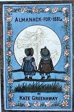 Greenaway, Kate. Almanack for 1884. London, Routledge & Sons, ea 1883