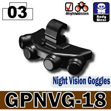 GPNVG-18 (W84) Tactical Army Night Vision Goggles compatible w/toy brick minifig