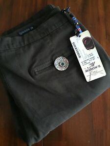 MASON'S EM'S CHOCOLATE  TORINO BICOLOR DIAG TWILL SLIM FIT PANTS(58 TG )$425