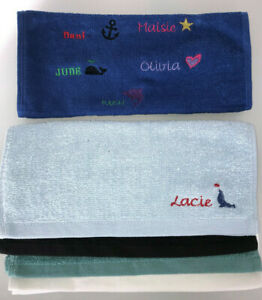 PERSONALISED CHILDRENS FACE CLOTH / FLANNEL / HAND TOWEL - STAR HEART WHALE
