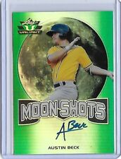 2017 Leaf Valiant Moon Shots Austin Beck Green Prismatic RC Auto 69/99 Athletics