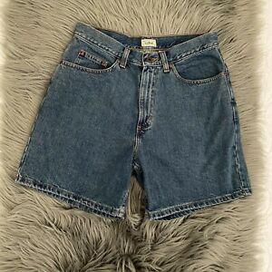 L.L.Bean Womens Shorts Denim Jeans High Rise 100% Cotton Size 10 Blue #1575