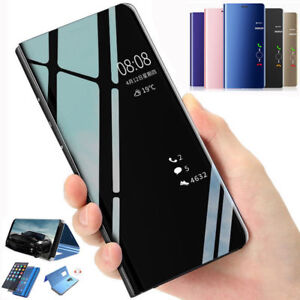 Smart Clear View Mirror Leather Case Flip Cover ForiPhone12 11 ProXs Max 8 7