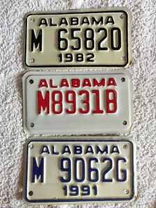 ALABAMA 3 X MOTORCYCLE *SPECIAL PRICE £9.99* USA Genuine Pre-Owned License Plate