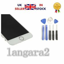 """New White iPhone 6G 4.7"""" Replacement Digitizer Touch Screen + Home Button Camera"""