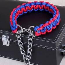 Nylon Braided Rope Pet Dog  Slip Lead Collar Dog Obedience Training JJ