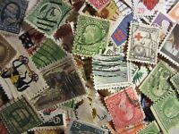 US OLDER STAMP LOTS ALL DIFFERENT USED WELL MIXED 100 DIFFERENT FREE SHIPPING