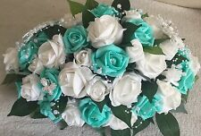 Wedding Table Centrepiece, top table arrangement tiffany blue