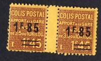 VARIÉTÉ colis postaux N°:119- Neufs **   jolie paire inter panneaux CV:60 €