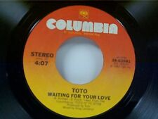 """TOTO """"WAITING FOR YOUR LOVE / LOVERS IN THE NIGHT"""" 45 NEAR MINT"""