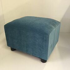 Footstool / pouffe / small box stool Teal velvet gift present British made