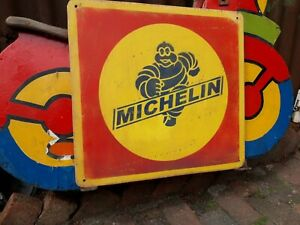 MICHELIN TYRES SIGN DUNLOP STOCK PIRELLI  BSA LAMBRETTA SERVICE GARAGE MANCAVE