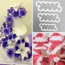 3Pcs 3D Rose Petal Flower Cutter Set Fondant Cake Sugarcraft Decorating Mould