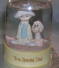 """Vintage Precious Moments 1984 Water Globe""""TO A SPECIAL DAD"""" #65271  by ENESCO"""