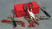 Set of Tools with Tool Box, Dolls House Miniature, Garage Shed Accessories