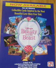 """1992 Pro Set Beauty and the Beast, """"Case-Topper"""" Store Poster"""