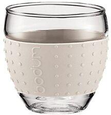 Bodum Pavina Double Wall Set of 2 Glass Hot & Cold Tea Coffee Mugs, 100ml, Off W