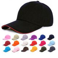 Simple Men Women Sports Baseball Cap Snapback Hat Hip-Hop Adjustable Bboy Cap