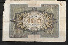 GERMANY GERMAN #69 1920 VG CIRC OLD 100 MARK BANKNOTE BILL NOTE PAPER MONEY