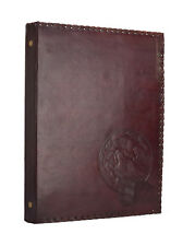 Wolf Moon 4 Ring Binder Arch File Folder DIN A4 Genuine Leather Handmade India