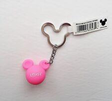 Disney - Mickey Mouse - Pink Mickey Head Ears Icon Ball Keychain/Keyring