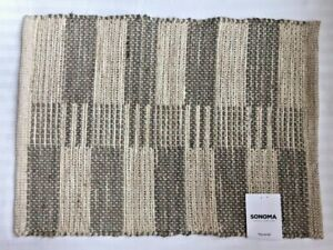 """SONOMA Goods for Life SET OF 3 PLACEMATS Size: 13 x 18"""" New SHIP FREE Jute"""