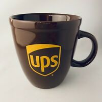 United Parcel Service UPS Logo Brown Coffee Advertising Mug Cup EUC Large
