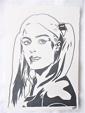 A4 Art Marker Pen Sketch Drawing Margot Robbie as Harley Quinn B