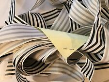 Black White Candy Stripde Grosgrain Ribbon 15 Yards Hair Bows Wedding Trim