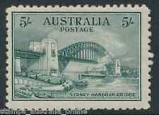 MINT 1932 5/- GREEN SYDNEY HARBOUR BRIDGE AUSTRALIA STAMP