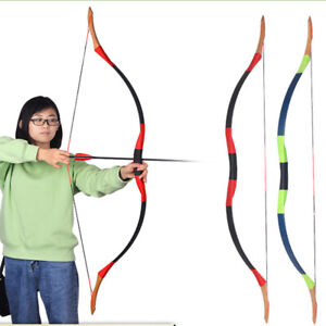 """52"""" Traditional Recurve Bow Hunting Longbow Mongolian Bow Archery Shooting 30lbs"""