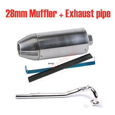 28mm MUFFLER + EXHAUST Pipe For Dirt Bike Honda CRF50 CRF70 Yamaha TTR110 Suzuki