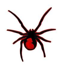 Black Widow Spider Patch Iron on Applique Alternative Clothing Gothic Deathrock