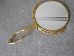1960s Vintage French Brass Pliable hand Lady MIRROR