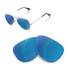 Polarized Replacement Lenses for Rayban 3025 aviator 58 size blue mirror color