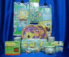 Sponge Bob Bubbles Luau Party Set # 24 Cups Plates Napkins Tablecover Stickers