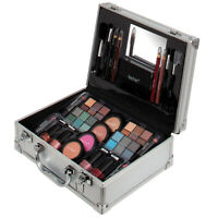 Aluminium Beauty Silver Train Case & Make Up Kit Cosmetics Gift Set By Technic