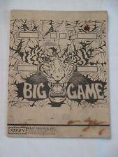 Stern Big Game Pinball Manual