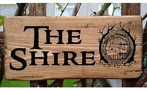 Personalised The Shire Lord of the Rings Hobbit House Plaque Plate Door Signs