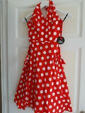 Vintage Polka Dot Halter Neck Dress