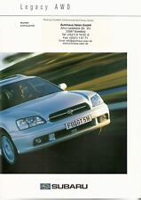 Prospekt / Brochure Subaru Legacy 10/2000