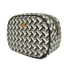 Nwt Tory Burch Tile T Cosmetic Case Pouch in Black