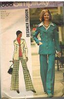 5868 Vintage Simplicity Sewing Pattern Misses Designer Fashion Jacket Pants OOP