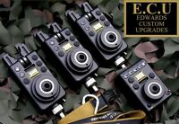 Edward Custom Upgrades NEW ECU MK1 Compact 3 Rod Carp Fishing Bite Alarm Set
