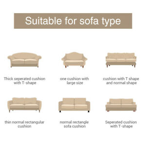 1-3 Seat Sofa Cushion Cover PU Leather Slipcover Couch Seat Protector Waterproof