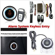 8X Keyless Entry Car Engine Push Start Button Lock Ignition Starter Alarm System