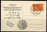 GERMANY 6/19/21 POSTCARD  FRANKED  WITH 10 PFENNIG ORANGE STAMP