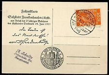 GERMANY 6/19/21 POSTCARD  FRANKED  WITH 10 PFENNIG ORANGE STAMP