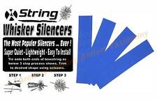 2 Pair Blue Bow String Whisker Silencers Archery Bow Easy Tie On - Free Shipping