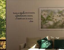 BENDICE LA COMIDA ANTES DE NOS -Spanish Vinyl wall decals quotes sayings #1090